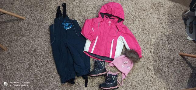 Пакет. Термо куртка, шапка, полукомбез, краги, ботинки, на 98 -104см