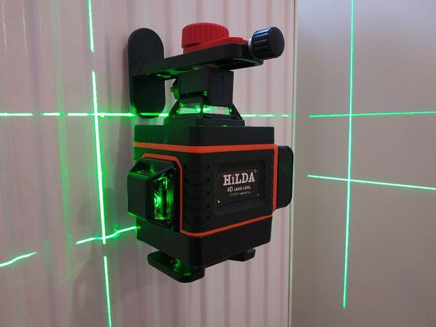 Laser Poziomica 4D 4x360 SAMOPOZIOM / SKOSY + PILOT + UCHWYT