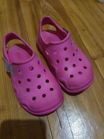 Crocs детские. Розовые, оригинал, Состояние оч.хорошее. размер 9
