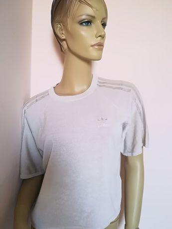 Okazja Nowy orginalnyTshirt Adidas damski nude beż 36 S