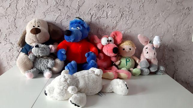 Пакет мягких игрушек  волк мышка собака ослик