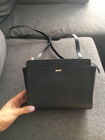 Czarna skórzana torebka listonoszka Paul Costelloe