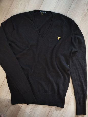 Sweter wełniany Lyle&Scott Vintage XL merino