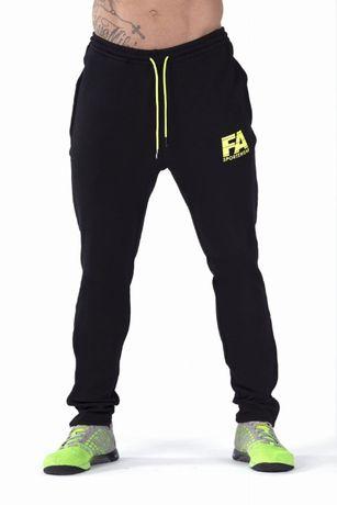 FA Sports Wear Spodnie Dresowe Męskie 01 Basic Black rozm S