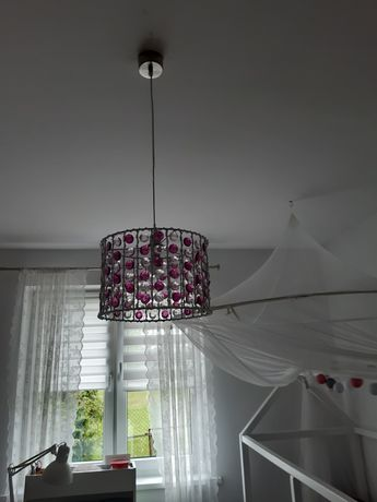 Lampa sufitowa krysztalki dla dziewczynki