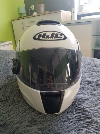 Kask motocyklowy HJC C90 PEARL WHITE biały