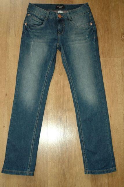 C&A Palomino super dżinsy jeans wywijane nogawki r.146