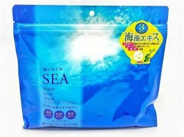 Тканевые маски для лица  с морскими водорослями, 30 шт. Япония