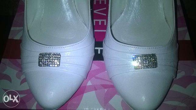 białe ślubne buty roz.38