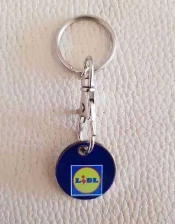 Miniaturas Lidl Shop porta chaves moeda carrinho de compras