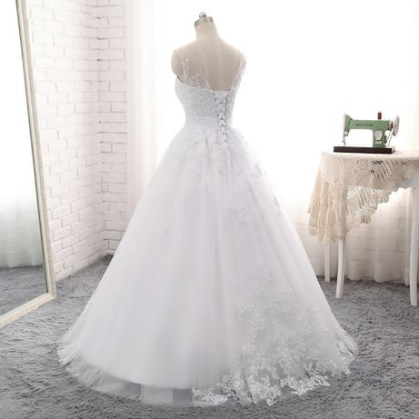 suknia ślubna wiązana 34, 36, 38, 40,42, 44, 46, 46W