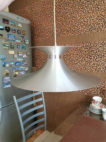 Lampa wisząca metalowa srebrna