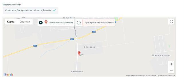 25 - 35 сот под жилую застройку Вольнянск Спасовка видовой от дороги