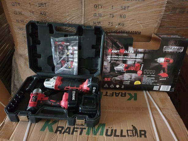 Kit de rebarbadora e máquina de impacto com Baterias LITHIUM de 36V  R