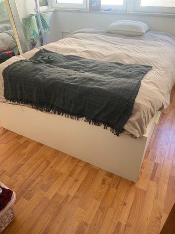Cama brimnes de casal+estrado e colchão IKEA
