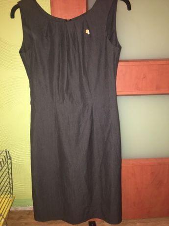 Prosta klasyczna szara sukienka 20zl