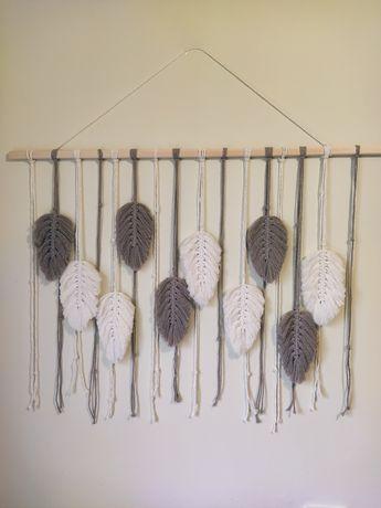 Листочки макраме , листья, перья макраме