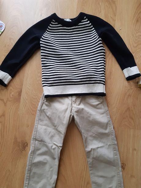 Spodnie Zara 98, sweter H&M 98-104