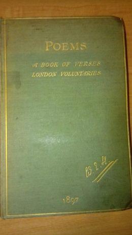 Антикварная книга 1898 года У. Э. Хенли