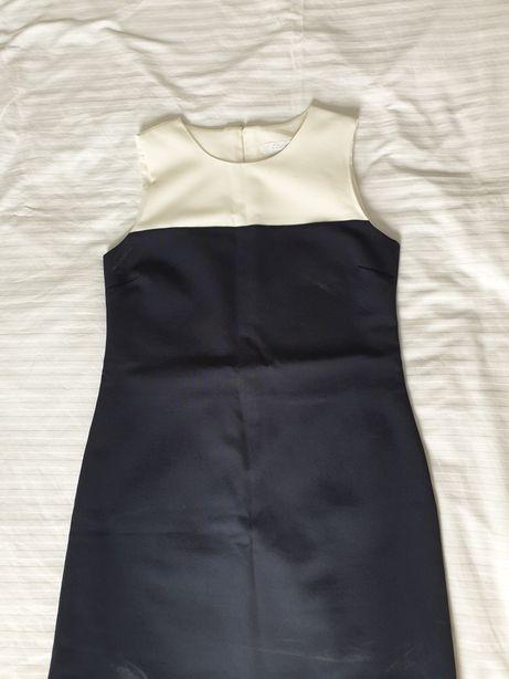 Sukienka granatowa biała niebieska 38 36 S M etam