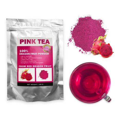Чай из Питахайи (red dragon fruit powder) - 100 г (matcha, матча)