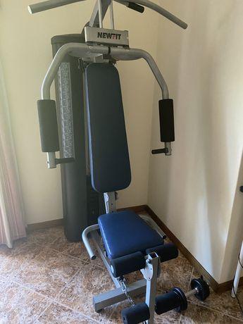 Maquina musculacao + passadeira + maquina abdominais