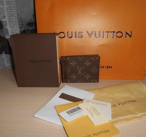 KLIP DO pieniandze PORTFEL MĘSKI Louis Vuitton , skóra, Francja 025