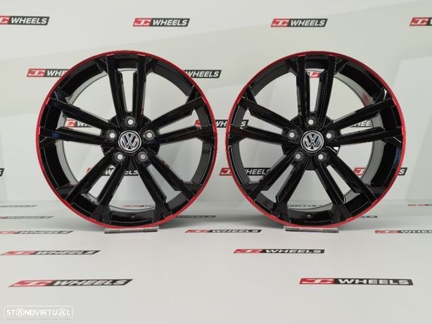 Jantes VW GTD Red/black em 18 5x112