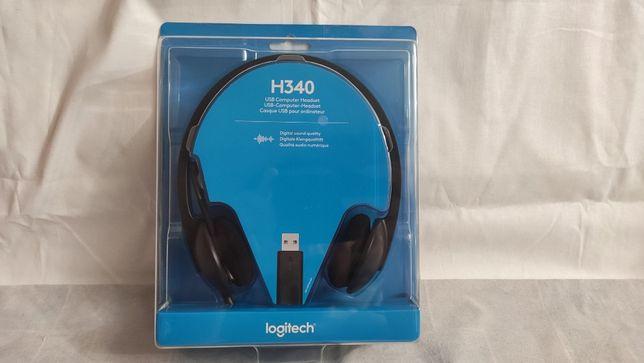 Наушники Logitech Headset H340 USB, гарнитура