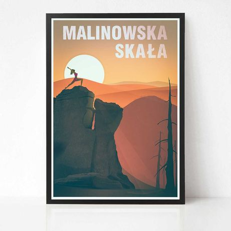 Plakat Malinowska Skała Beskid Śląski bieganie fitness yoga