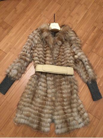 Пальто-кардиган Кашемировый с лисицей