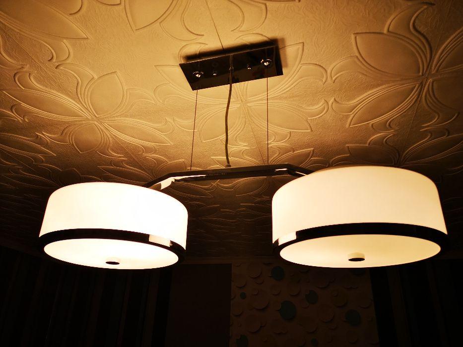 Lampa ITALLUX biała i chrom obręcze Jastrzębie-Zdrój - image 1