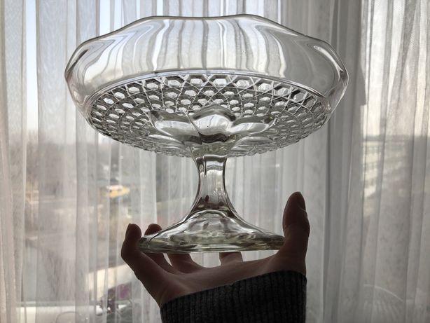 Patera kwiatek Ząbkowice szkło prl