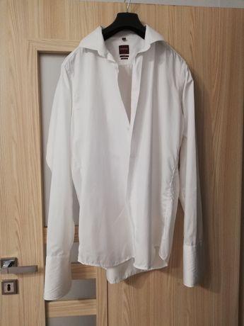 Koszula biała ślubna XL