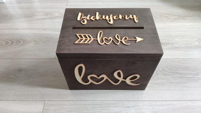 Pudełko skrzynka na koperty ślub wesele