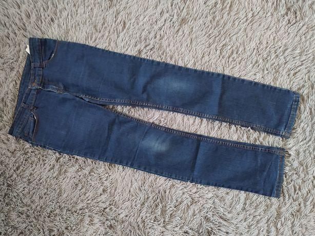 Spodnie jeansy granatowe 158