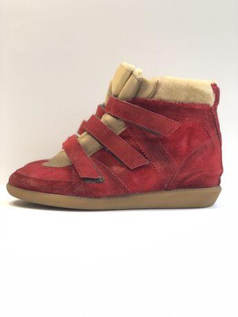 Сникеры, снікерси жіночі 39 р., черевики замшеві, ботинки