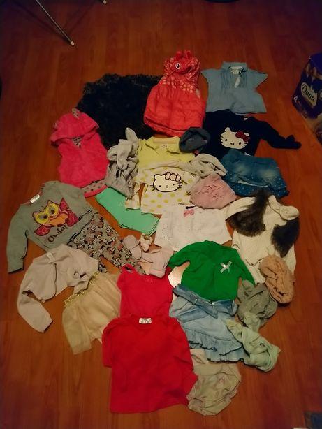 Ubranka dla dziewczynki r 74 paka zestaw h&m zara handmade