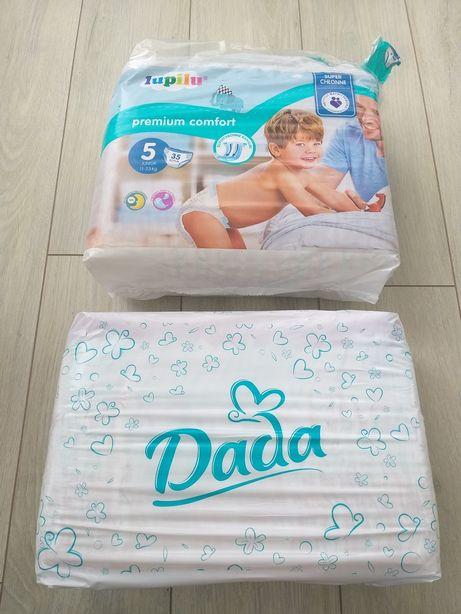 Pieluchy Dada Maxi + 9-20 kg, Lupilu Junior 11-23 kg Nowe