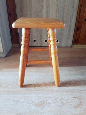 Taboret drewniany 27x27x45cm - 2 szt.
