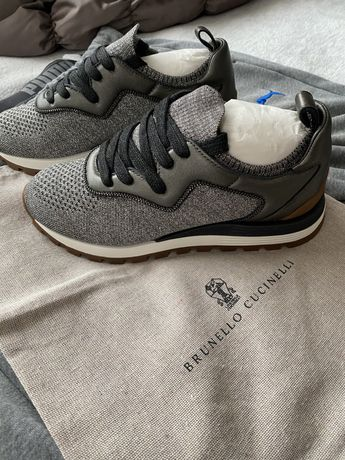 Кросовки Brunello Cuccilnelli knitted low-top sneakers