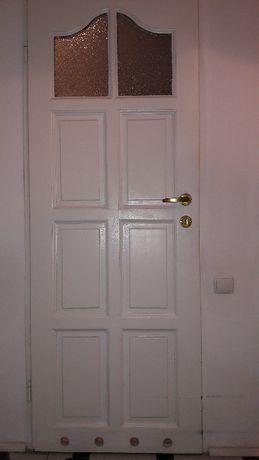 drzwi drewniane do łazienki i wc