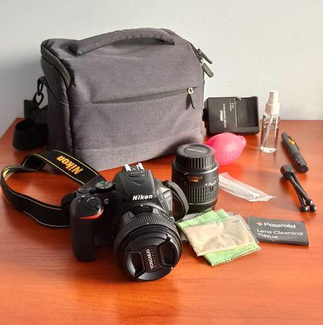 NIKON D5600 + 2 obiektywy + torba + akcesoria lustrzanka