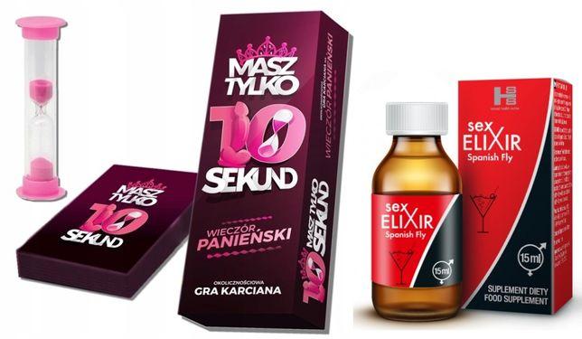 Gra na Wieczór Panieński 10 sekund karty prezent + SEX ELIXIR