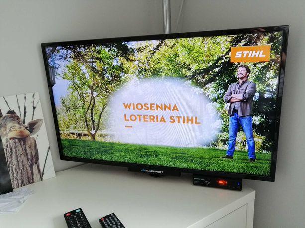 TV 32 Blaupunkt, dekoder, uchwyt, antena, okablowanie, gotowy zestaw