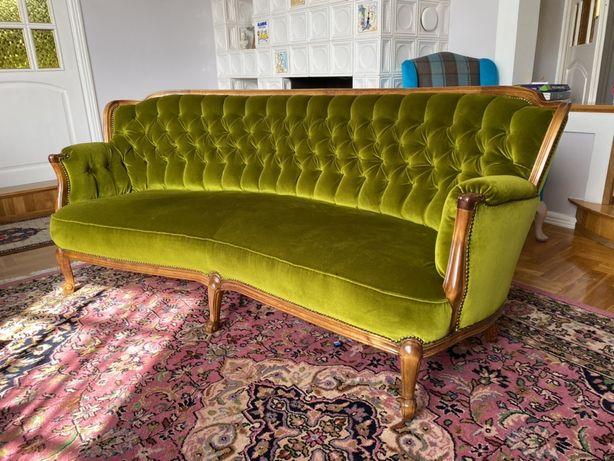 Sofa w stylu francuskim antyk ludwik welur
