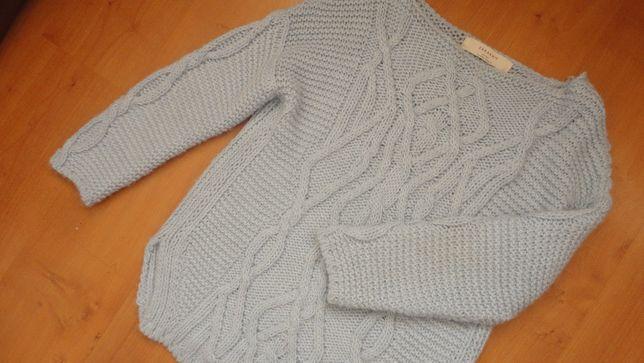 ZARA damski sweter blękitny M L 40 OKAZJA! mango massimo dutti