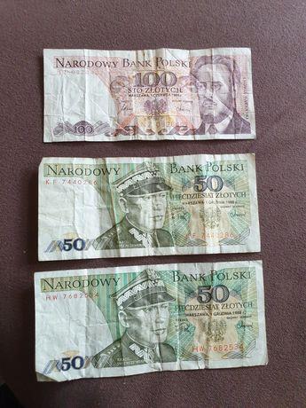 Banknot 100zl i 2×50zl