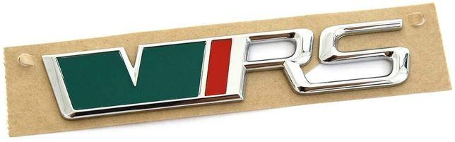 NOWY znaczek przyklejany emblemat VRS Skoda metal logo srebrny