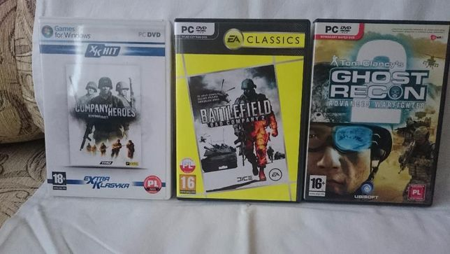 Gra Battlefield, Company of heroes, Ghost recon